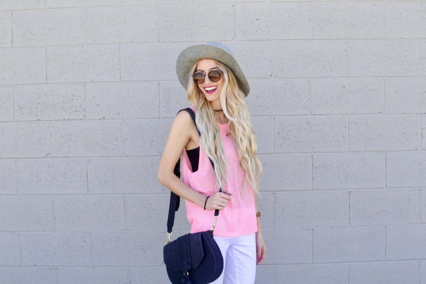 Spring Tank: Pink Top with 337 BRAND