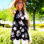 Joli Blue Boutique Floral Top