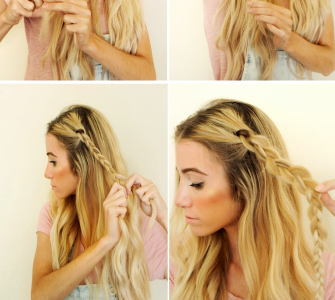 Easy 5 Minute Summer Braids
