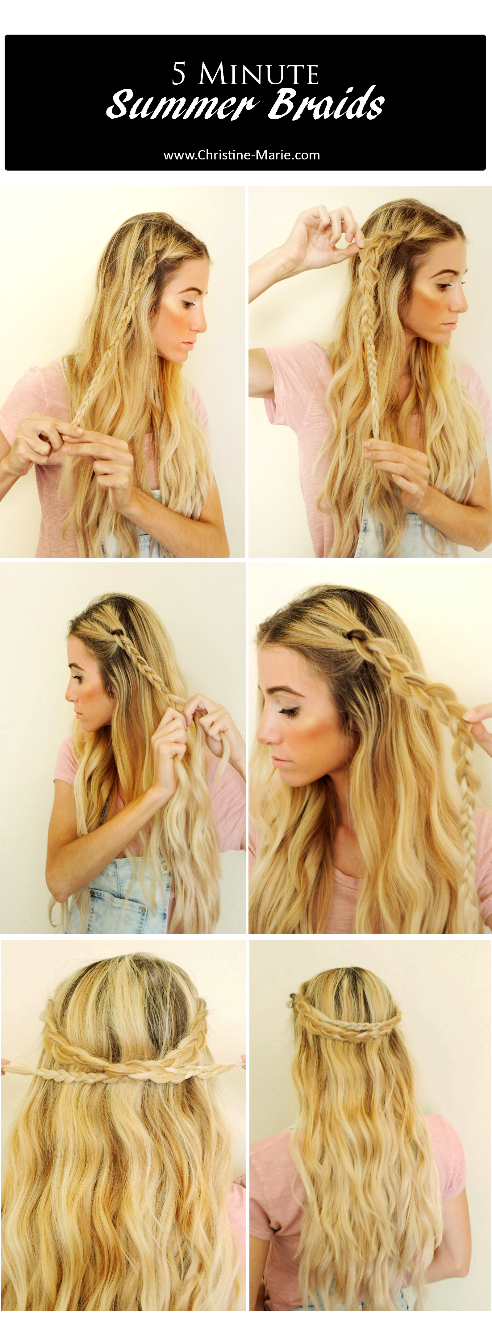 How to Create Easy 5 Minute Summer Braids