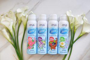 Secret Invisible Spray Deodorant in 4 NEW Scents!