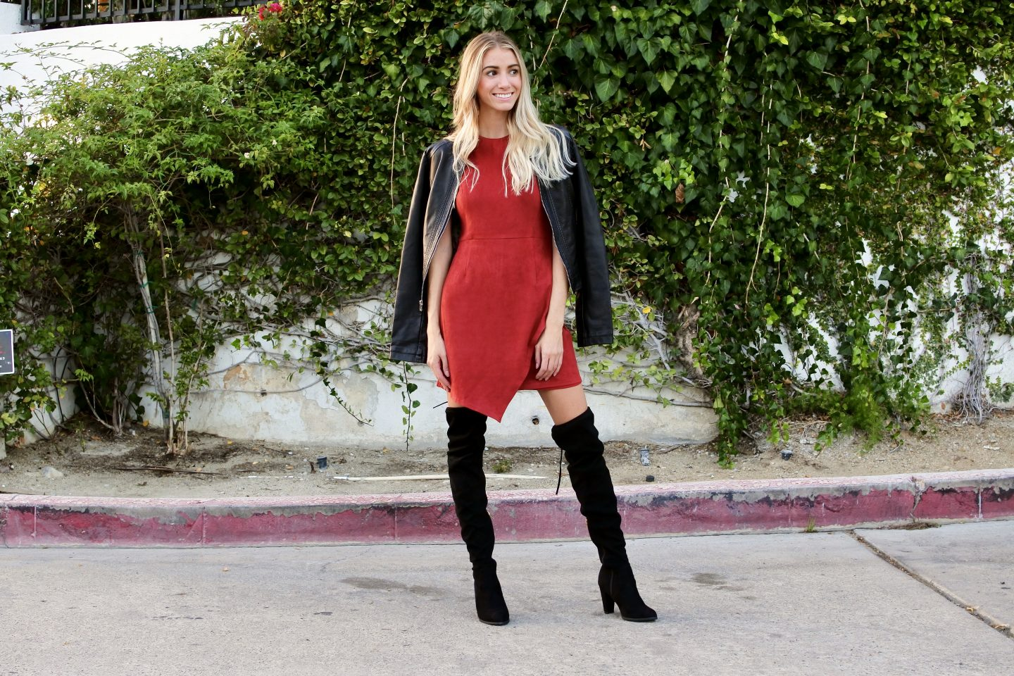 Kikay Collection Faux Suede Dress