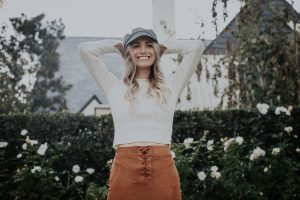 Fall Suede Lace Up Skirt | Cab hat | Bell Sleeves | Over the Knee Boots |