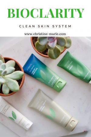 Bioclarity clear skin system | Christine Marie Blogger | Acne Regimen