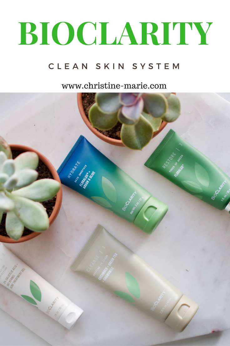 Bioclarity clear skin system | Christine Marie Blogger | Acne Regimen