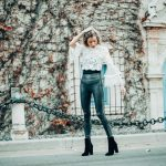 Forever 21 Lace Top | Leather Leggings | Christine Marie Blog