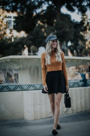 Fall Fiddler Cap  Fall Outfit   Blogger Christine Marie