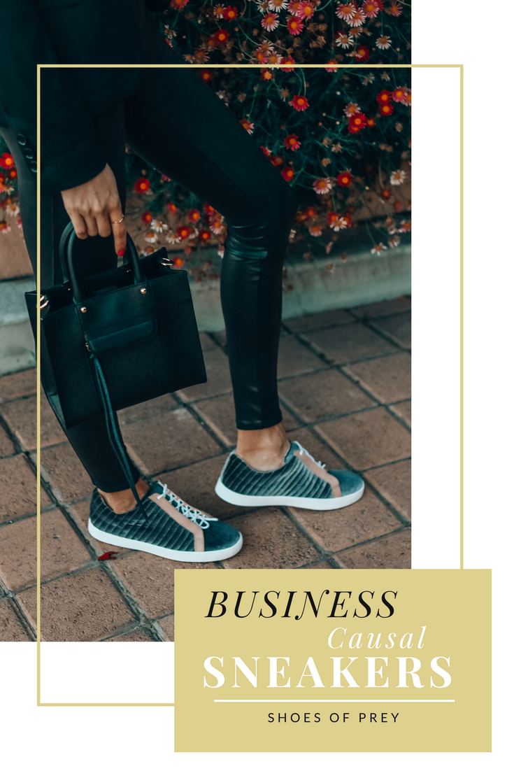 Business Casual Sneaker Look | Tips on Styling Sneakers | Shoes of Prey | Customize Your Sneakers
