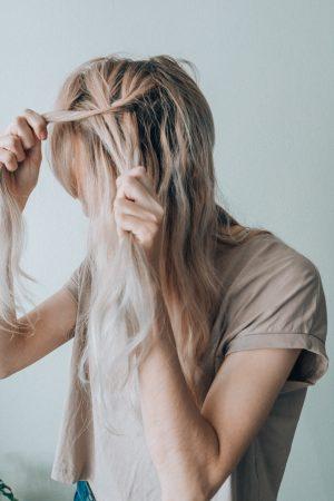 Fishtail braids hair tutorial.