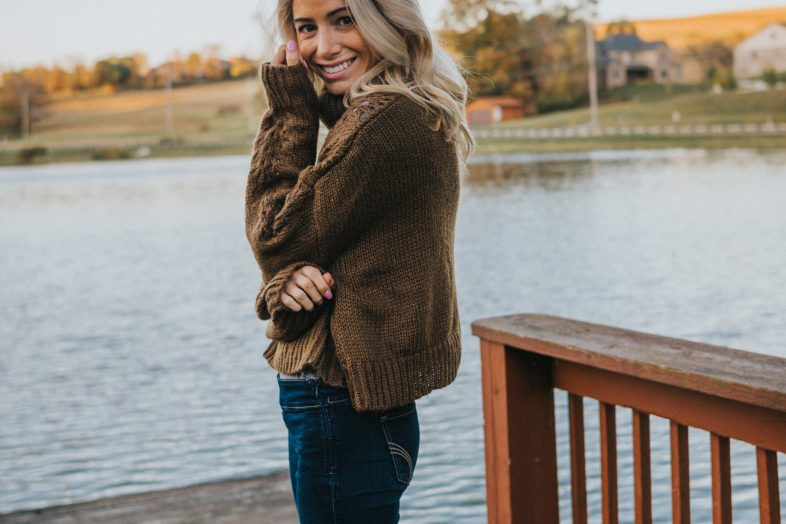 Affordable Olive Sweater