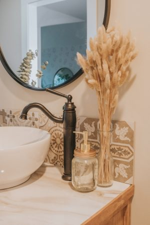 Before and After Mid Century Bathroom Renovation | Vanity Sink