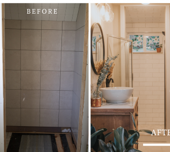 Before and After Mid Century Bathroom Renovation
