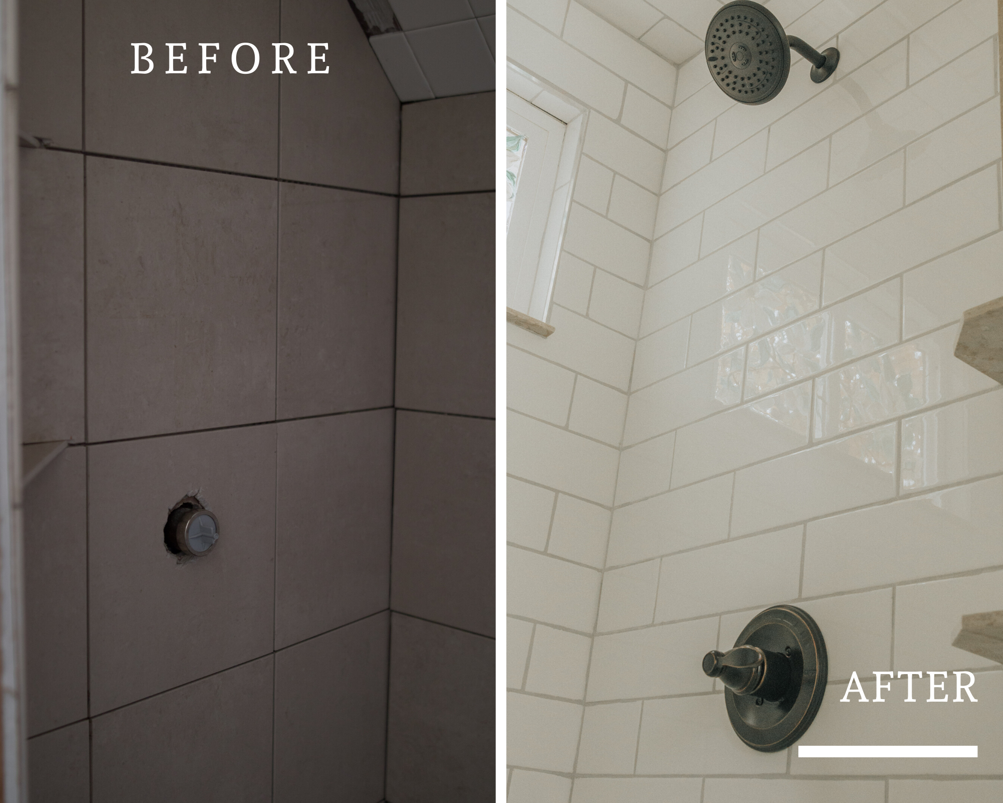 Before and After Mid Century Bathroom Renovation | Subway tile