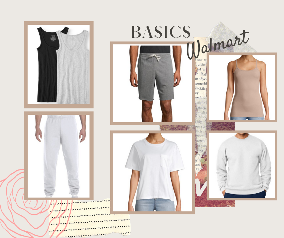 Walmart Basics | Walmart tees | Walmart tanks | Sweatpants | Sweatshorts | Affordable basics