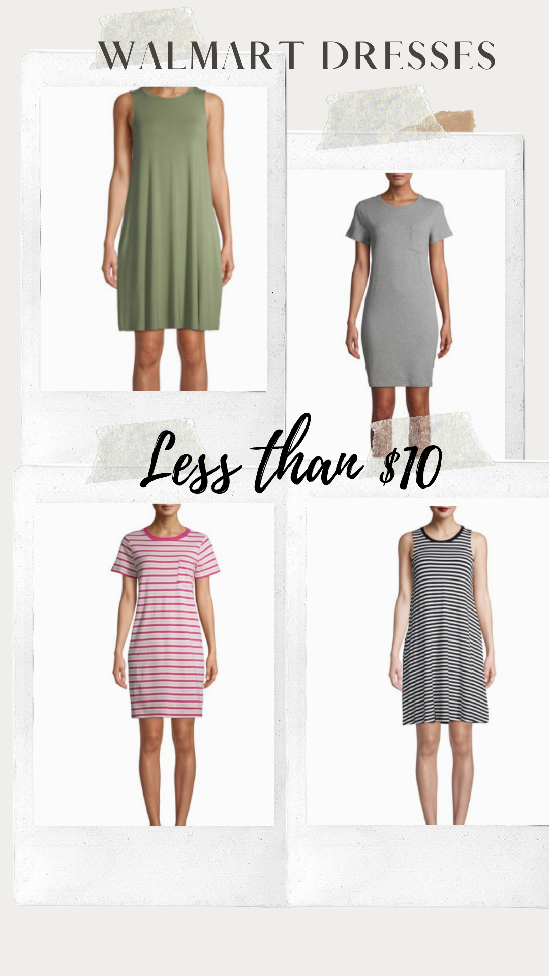 Walmart Dress less than $10 | Walmart Fashion | Basic dresses | T-shirt dresses