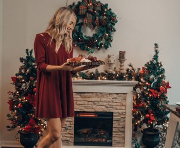 Holiday Decorating | Electric Fireplace | The Home Depot| Holiday Decor