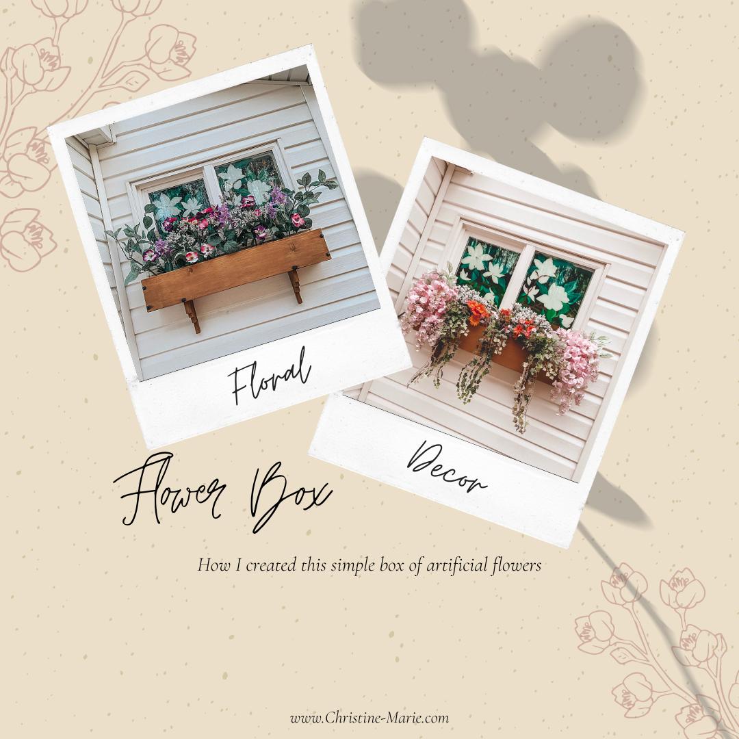 Flower Box | DIY Flower Box | Spring Florals | Home Decor | Porch Decor